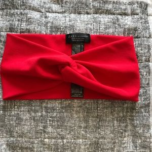 Zara red  turban headband